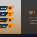 preview of the orange and blue drift twitch panels