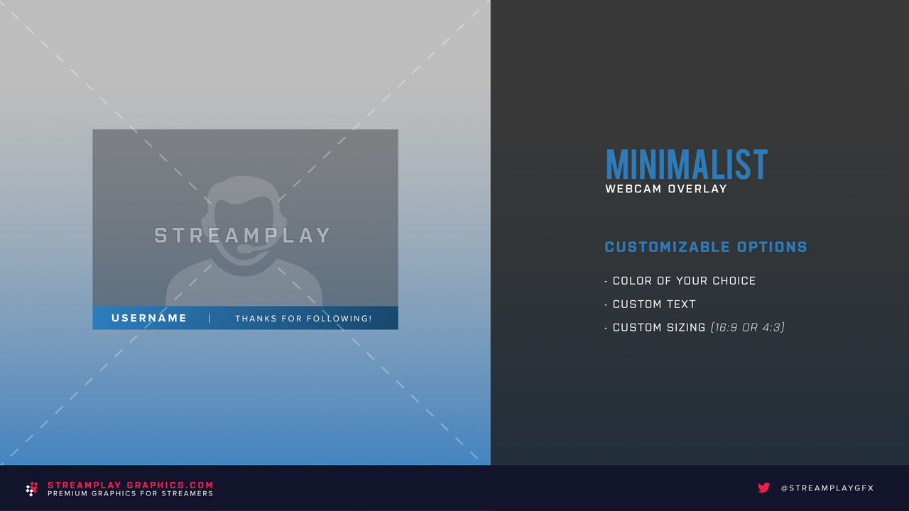 showcasing the minimalist webcam overlay for streamers