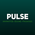 pulse green animated twitch scene