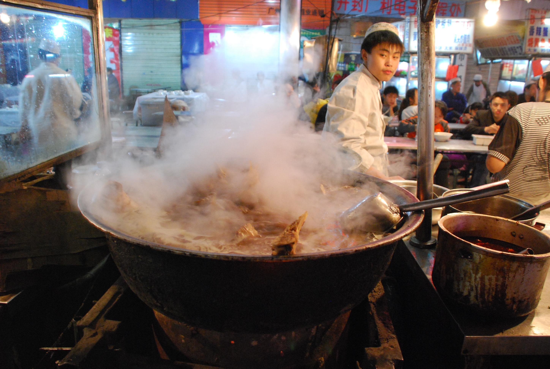 Lamian Broth Boiling