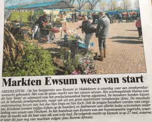 Voorjaarsmarkt in Ommelander
