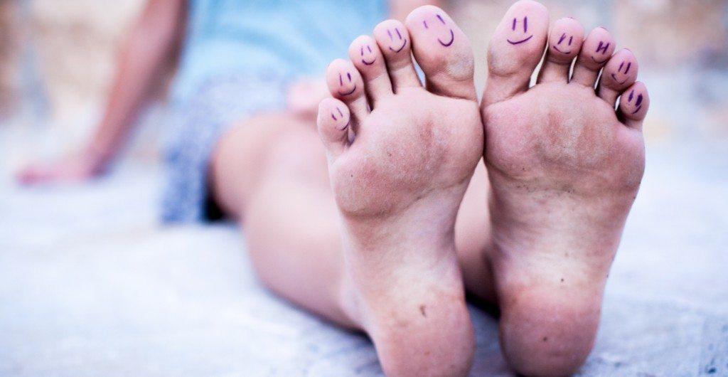 Laimīgas pēdas ir pēdas bez tulznām