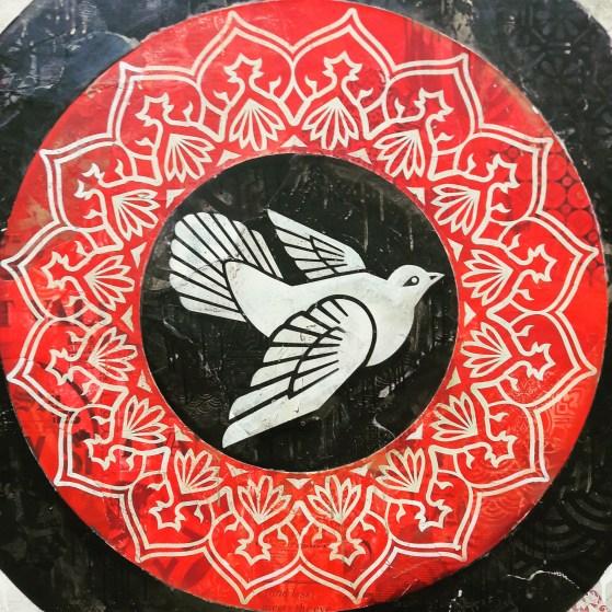Shepard Fairey, Obey Doves (Black) 2012