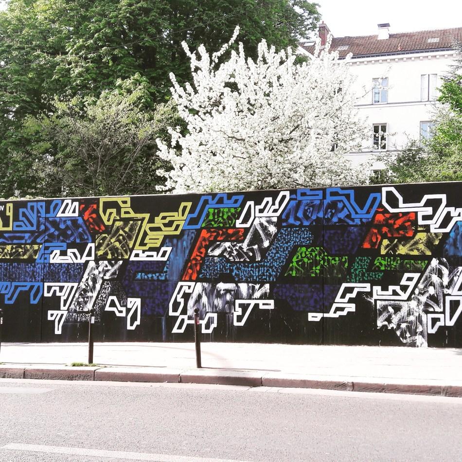 Mur du Pavillon Carré de Baudouin (Paris 20) par Lek & Sowat