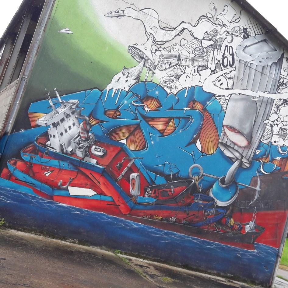 Fresque du street artiste Zeso