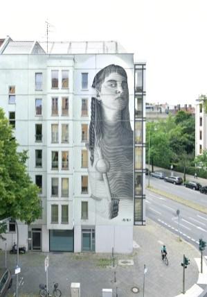 Projet One Wall avec l'artiste Venezuelien Nicolas Sanchez, Mommsenstraße 40, Berlin. 2017 ©Urban Nation