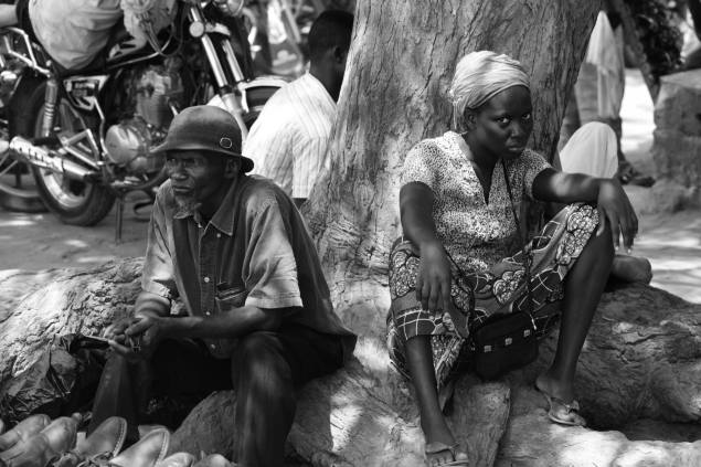 Photo originale de Fred Atax à Ghana (Afrique occidentale) : vendeurs à la sauvette