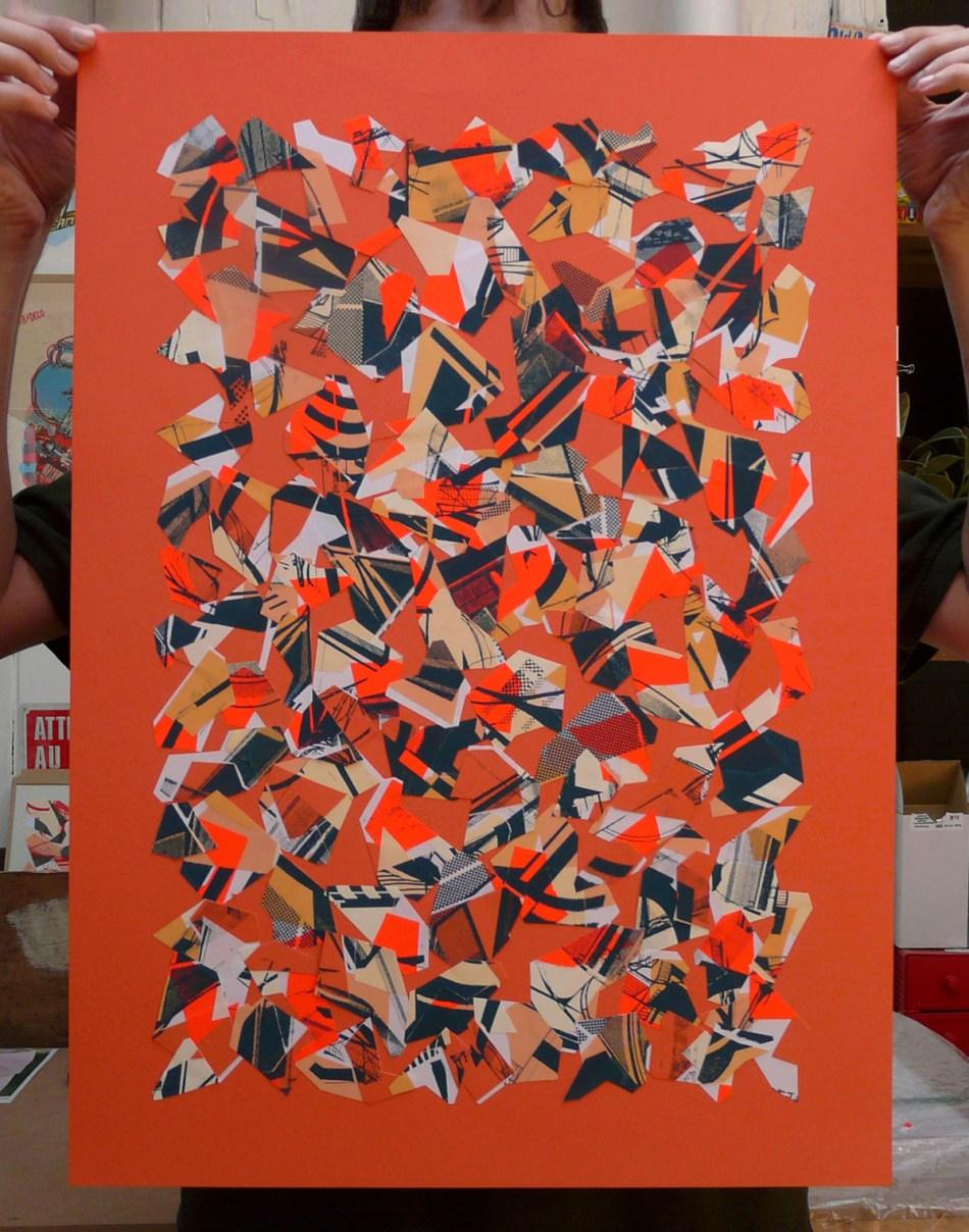 Collage, Serigraphie 50 x 70 cm