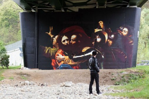 Andrea Ravo Mattoni, L'Arrestation du Christ, Viale belforte Varese, 2016 ©Andrea Ravo Mattoni