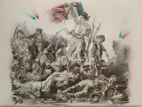 La Liberté guidant le peuple revisitée par l'artiste C215 ©I.R