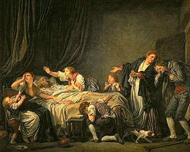 La Malédiction Paternelle : Le fils puni du peintre et dessinateur français Jean-Baptiste Greuze (1725-1805)