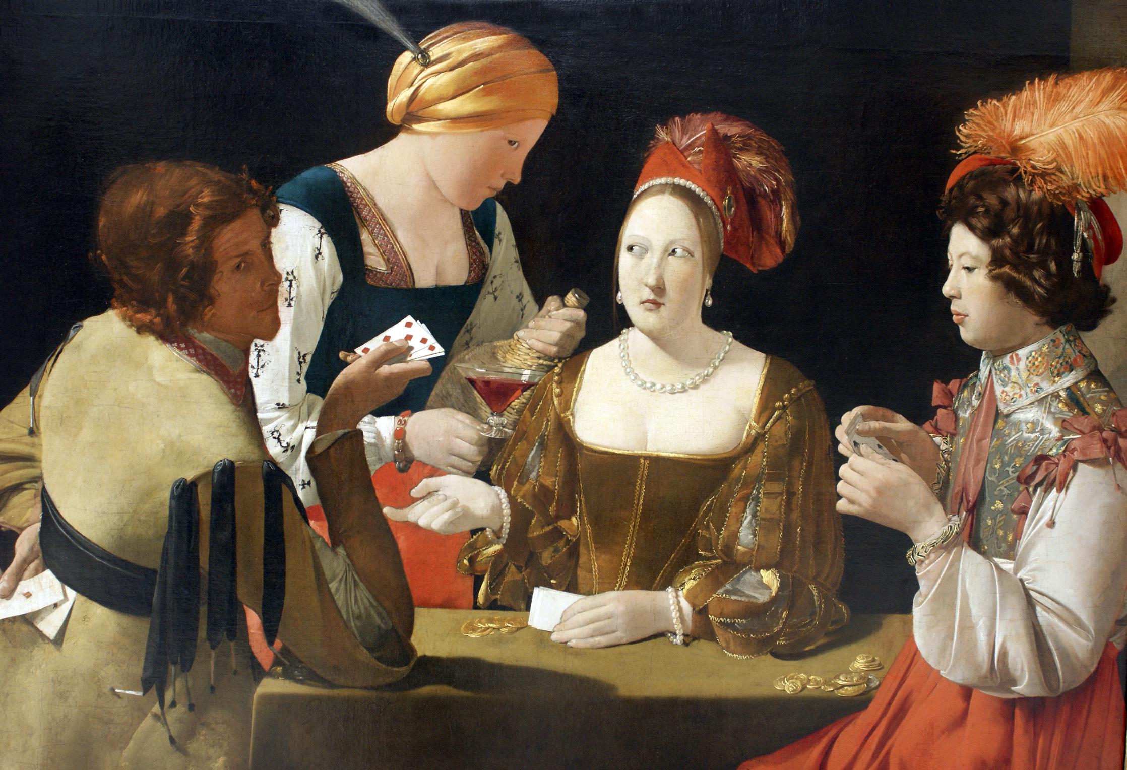Le Tricheur à l'as de carreau, Georges de La Tour, 1636-1638