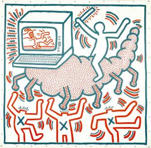 Keith Haring, sans titre, 1983 ©Keith Haring Foundation