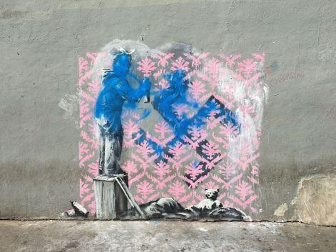 Banksy toyé, 56 boulevard Ney, Paris 18, 2018 ©Streep