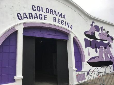 Le Garage Régina de violet vêtu, la couleur dominante de Colorama 2018 ©Vincent Loublière pour Streep