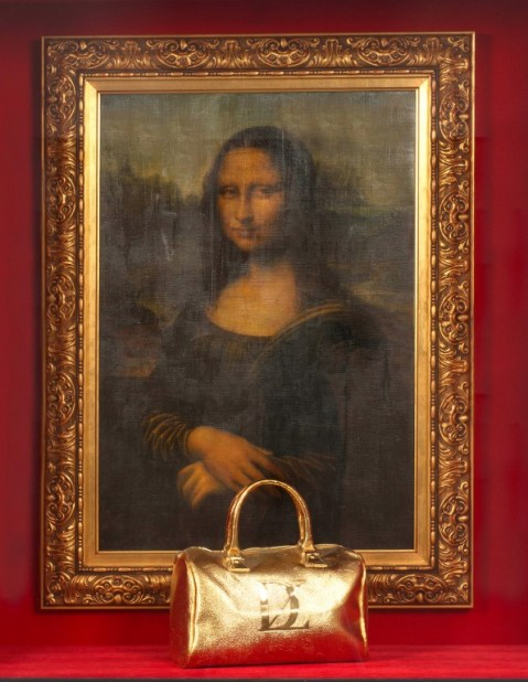 Mona Lisa with handbag, Zevs, 2008 ©Streep