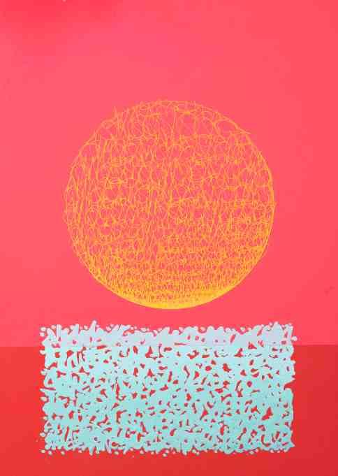SUN7 (1977), Sunrise, 2019 Acrylique et marqueur sur panneau, signé, titré, situé et daté au dos