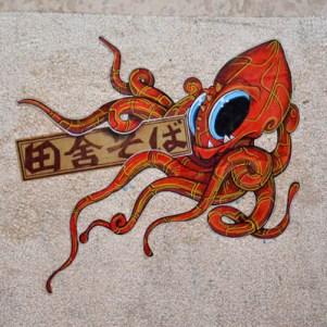 pieuvre cap phi street art
