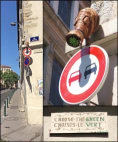 green artiste street art