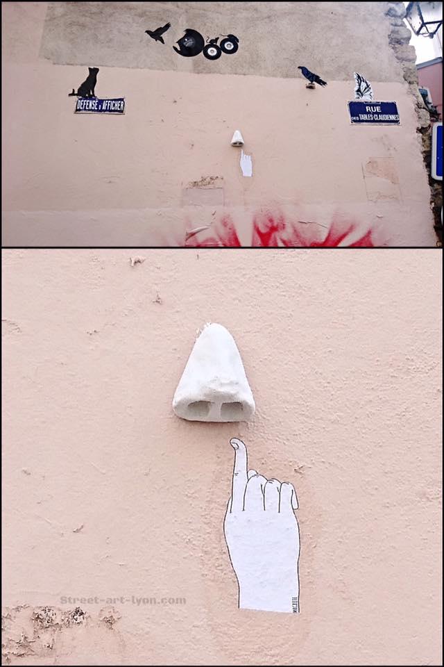 Magritte - finger in the nose