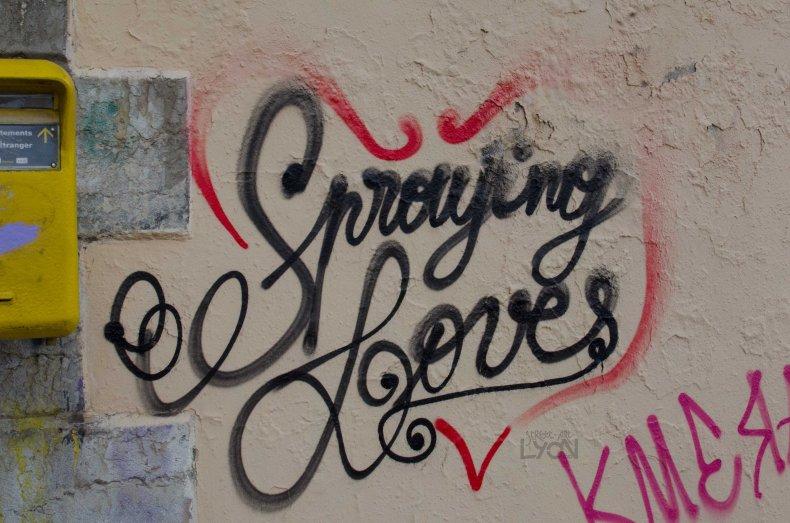 spraying love