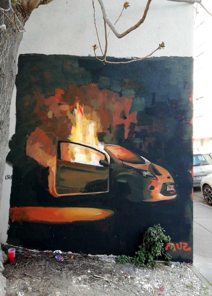 MUZ.muralmedia, rue Elie Rochette, Lyon 7e