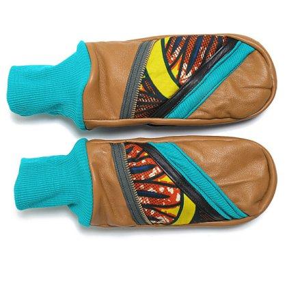 warmer times mittens by Junkprints