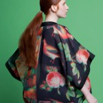Kimono Chiffon Jacket - Digital Birds