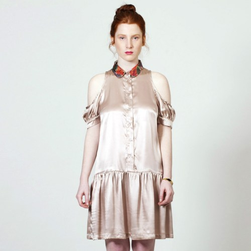 The Baby Jane Dress - Powder Silk