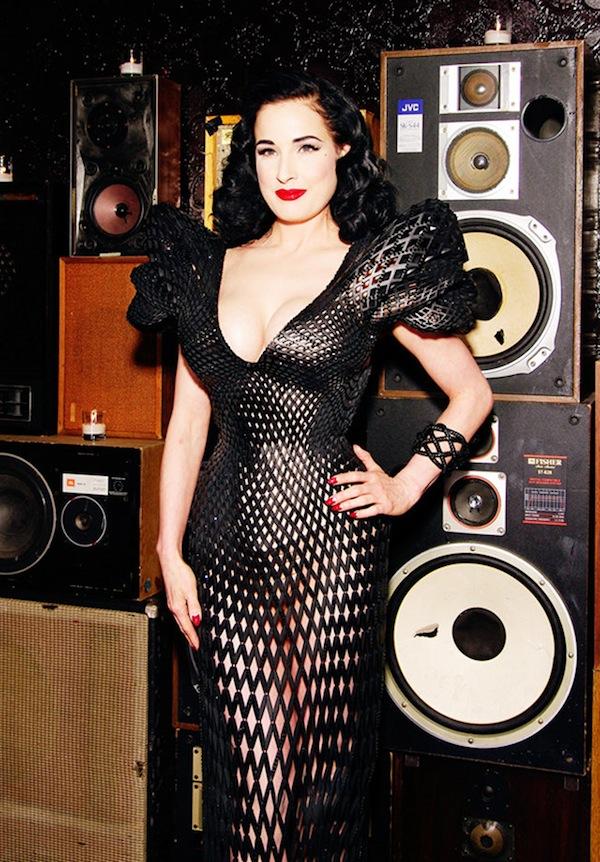 Dita Von Teese in 3D printed dress