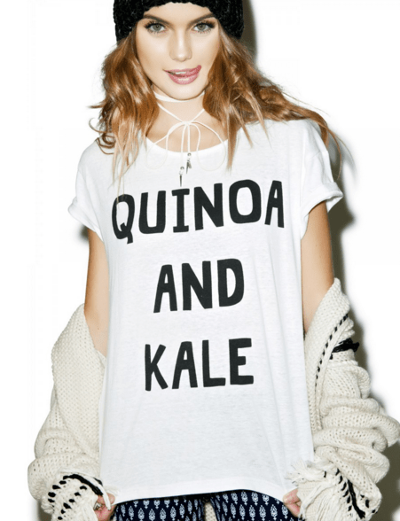 Mink Pink Quinoa and Kale Tee