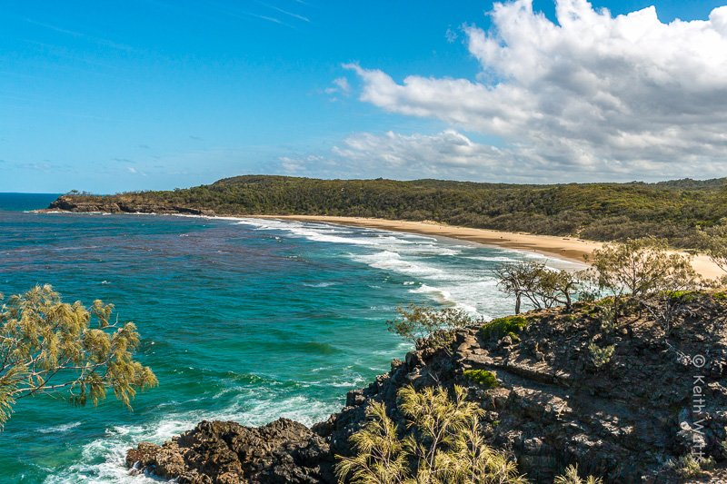 From the Noosa Headland back to Sunshine Beach A Bay is a desrted paradise.