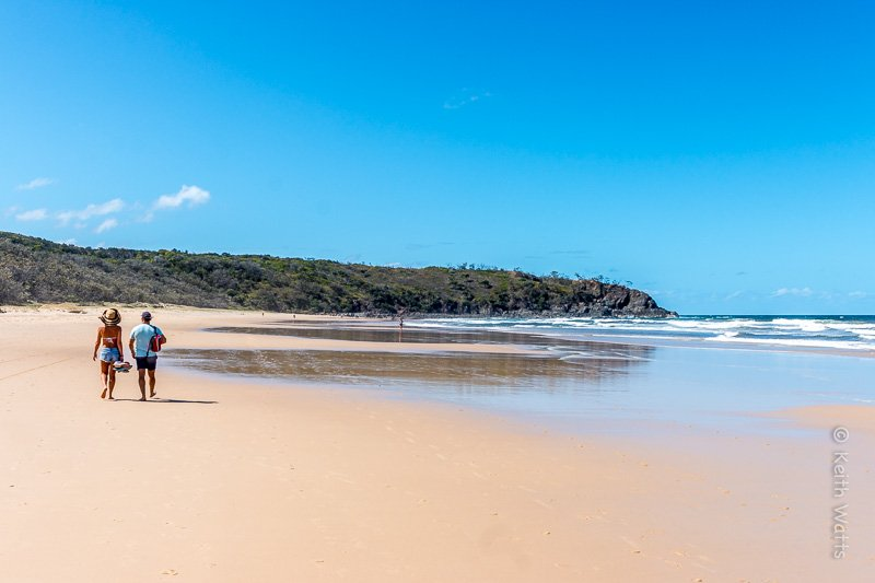 An hours walk from the nearest car park ensures this pristine beach is free from the crowds.
