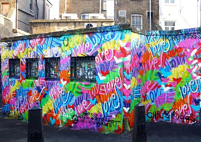 Love mural in London England