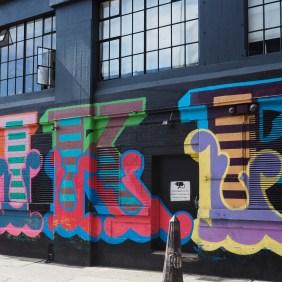 Detailaufnahme eines Murals von Ben Eine