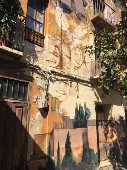 Mural von El Niño de las Pinturas dass einige Kinder zeigt