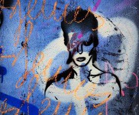 David Bowie- ein Stencil eines unbekannten Künstlers