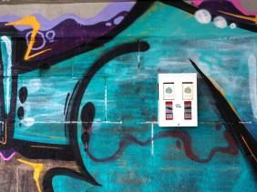 Graffiti mit Steineautomat