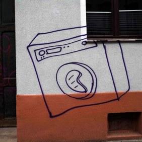 eine gesprüht Waschmaschine