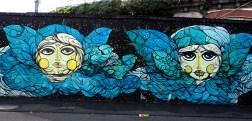 Mural zeigt zwei Traumfrauen