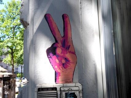 Peace Zeichen von Lieb Sein