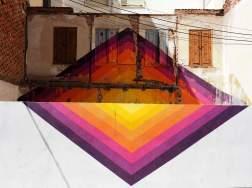 geometrische Form auf zwei Ebenen