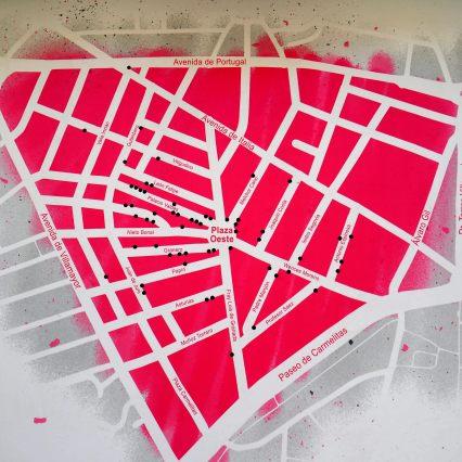 Plan vom Barrio del Oeste