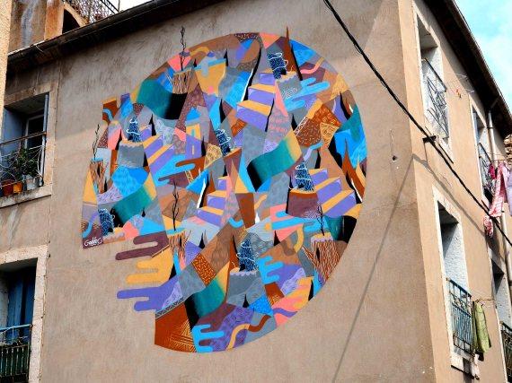 Mural in runder Form