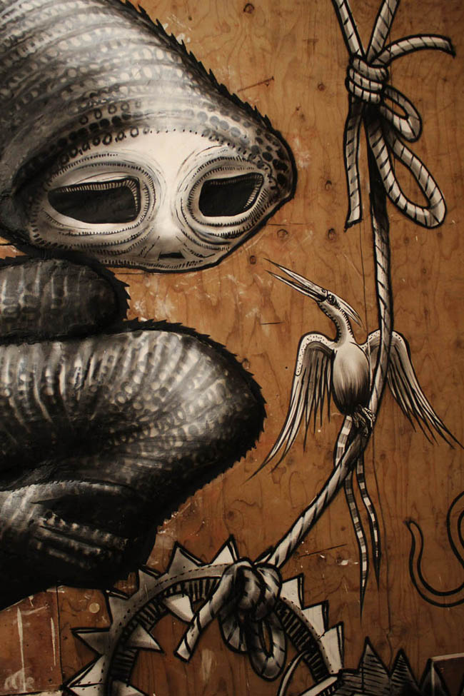 Phlegm installation  The Bestiary show  Howard Griffin