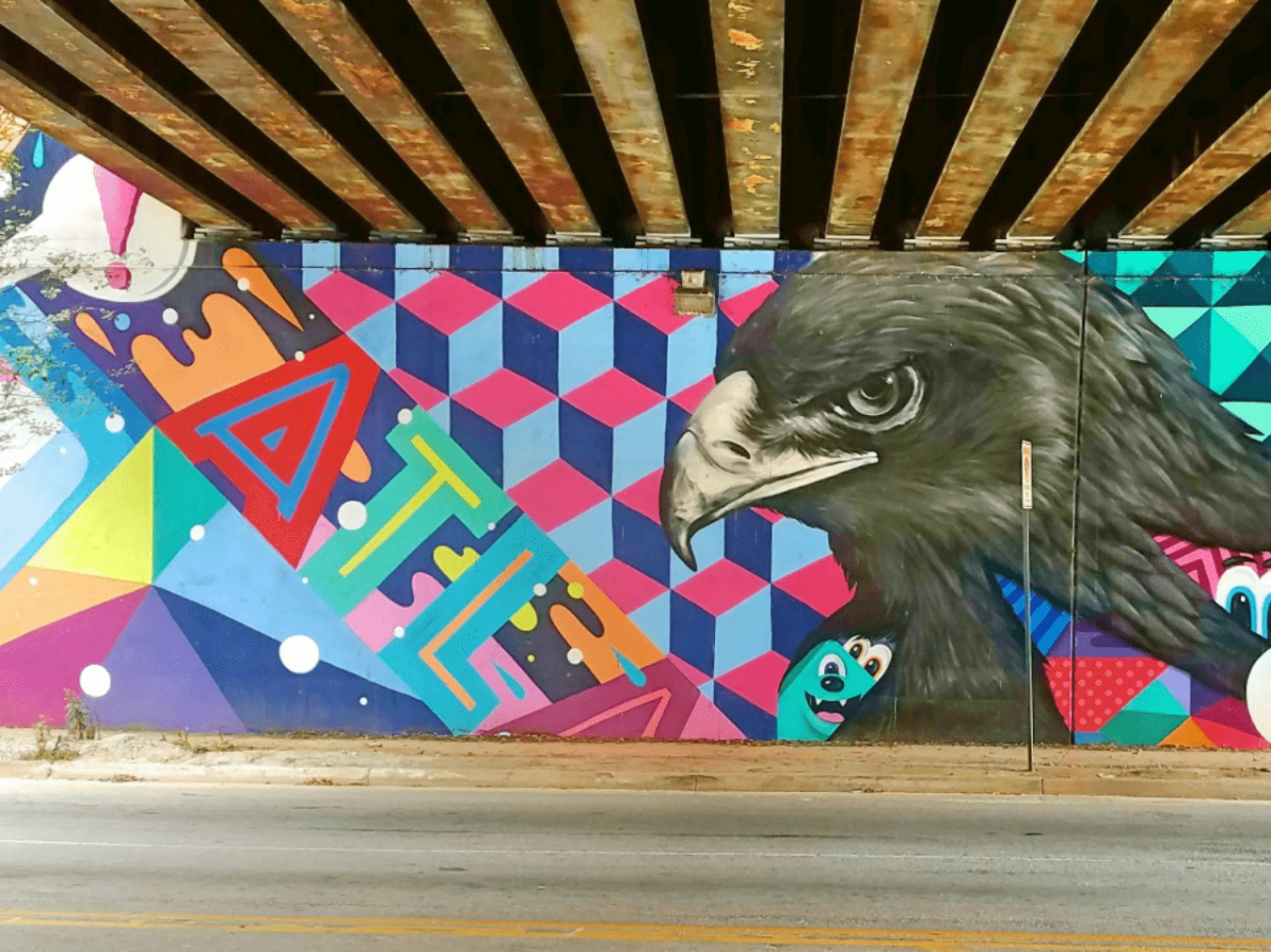 Mural by artit Greg Mike featuring an eagle
