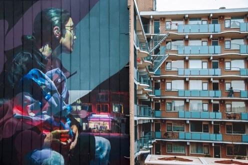 ~ By Telmo Miel and Sebas Velasco ~ Sober Walls Rotterdam 2017 - Photo via streetartnews.net
