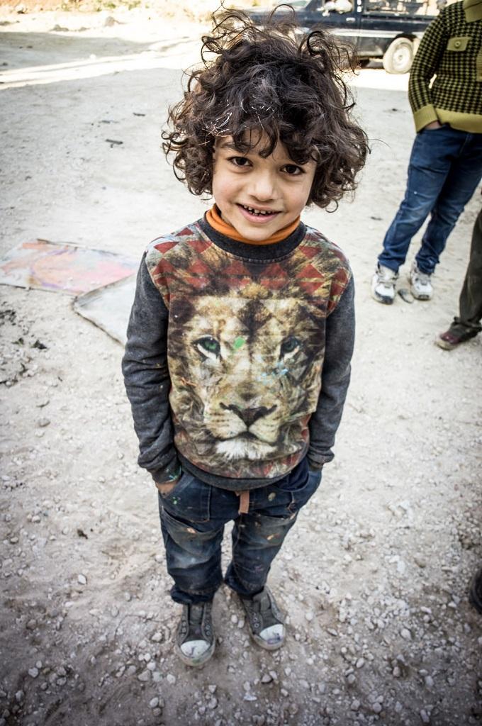Herakut at Zaatari, Jordan 16
