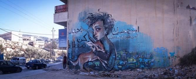 Herakut at Zaatari, Jordan 3