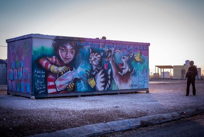 Herakut at Zaatari, Jordan 5